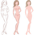 female fashion silhouette vector image