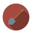 Flat design modern of shovel icon camping and vector image vector image