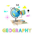 geography poster and globe vector image