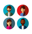 group person avatars characters vector image vector image