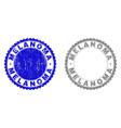 grunge melanoma scratched watermarks vector image