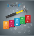 hammer screwdriver repair icon business vector image vector image