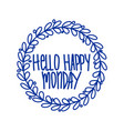 hand lettering set days week vector image