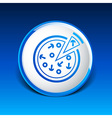 handmade pizza logo concept food vector image vector image