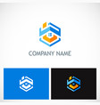 home ropolygon company logo vector image