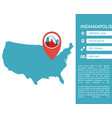 indianapolis map infographic vector image