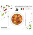 irish cuisine european national dish collection vector image vector image