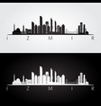 izmir skyline and landmarks silhouette vector image vector image