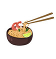 japanese noodles in a cup isolate on a white vector image