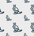 Kangaroo Icon sign Seamless pattern with geometric vector image vector image