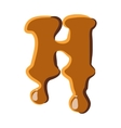 Letter H from caramel icon vector image vector image