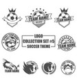 logo collection set with soccer theme vector image vector image