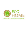 logo on eco construction repair and engineering vector image