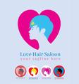 Love saloon logo vector image vector image