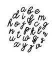 lowercase black hand drawn letters isolated on vector image
