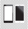 Mockup phone white and black color front view on