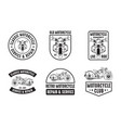 motorcycle badge and logo good for print vector image vector image