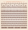 ornamental border frame line vintage patterns 3 vector image vector image