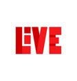 red live streaming icon vector image vector image