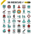 rescue concept icons vector image vector image