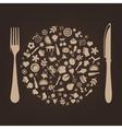 restaurant background vector image vector image