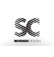 sc s c lines letter design with creative elegant vector image vector image