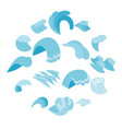 sea waves icons set isometric 3d style vector image vector image