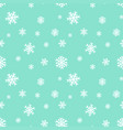 seamless background template with snowflakes on vector image vector image