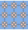 seamless pattern on a blue background vector image vector image