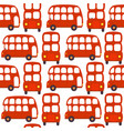 seamless pattern with london red bus vector image vector image