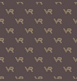 seamless pattern with vr logos vector image vector image