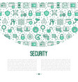 security and protection concept vector image vector image