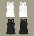set isolated woman sleeveless top or t-shirts vector image vector image