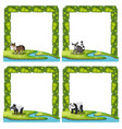 set of animal frame vector image vector image