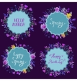 Set of watercolor floral frames Floral vector image