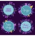 set watercolor floral frames floral vector image vector image