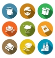 Social phenomenon homeless Icons Set vector image vector image