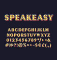 speakeasy vintage 3d alphabet set vector image