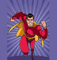 superhero running fast vector image vector image