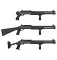 three pump shotguns vector image vector image