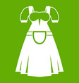 traditional bavarian dress icon green vector image vector image