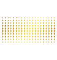 tulip gold halftone grid vector image vector image
