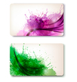 Two colorful abstract business cards vector image vector image