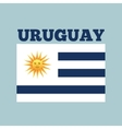 uruguay country flag vector image vector image