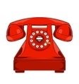 Vintage Red Phone with Buttons Dial Ring vector image vector image
