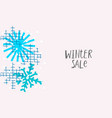winter sale snow christmas snowflake season card vector image vector image