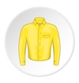 Yellow men shirt icon cartoon style vector image vector image