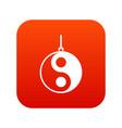 yin yang symbol icon digital red vector image vector image