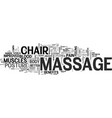 you ll never guess what a massage chair recliner vector image vector image