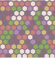 hexagon retro seamless pattern vector image